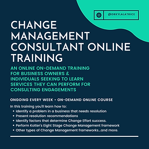 Change Management Consultant Online Trai