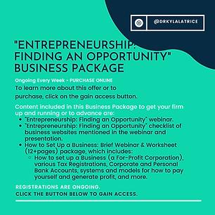 Entrepreneurship-Finding an Opportunity