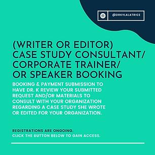 Case Study Consultant Speaker or Trainer
