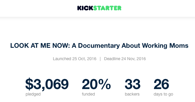 4 Days In: We have 20% of our Funding