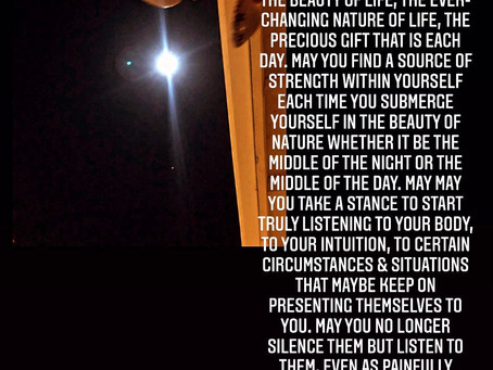 Welcoming the full moon; October 31, 2020