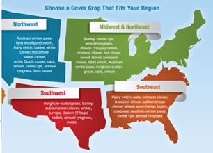 US regional cover crop map