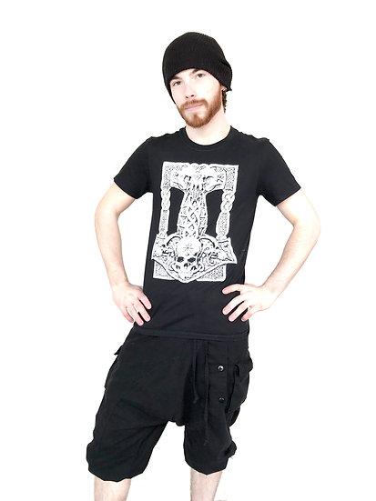 Black Baggy 3/4 Pants