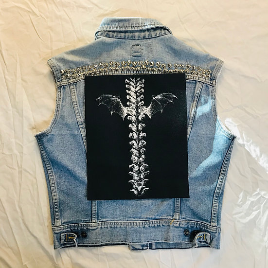 Spine with Wings Back Patch