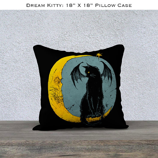 Mina Dream Kitty Throw Pillow Case