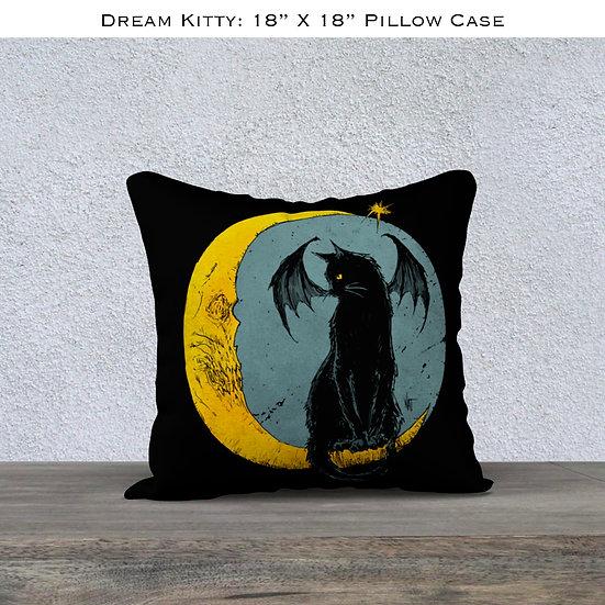 Mina Dream Kitty Throw Pillow Case