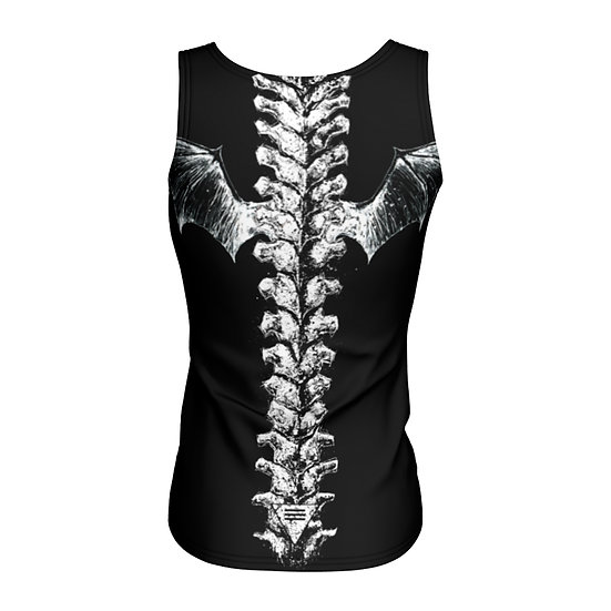 Spine with Wings Fitted Tank Top