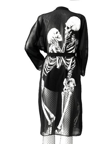 Skeleton Lovers Peignoir