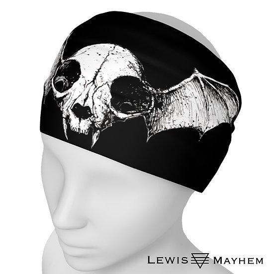 Bat Cat Skull Headband