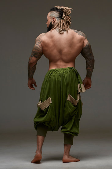 GREEN Mega Harem Pants