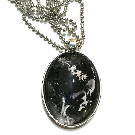 Bride of Frankenstein Oval Necklace