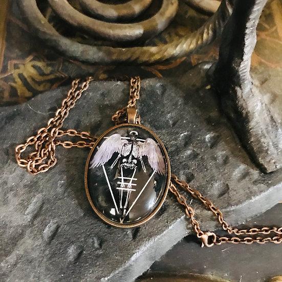 Mayhem Angel Oval Necklace
