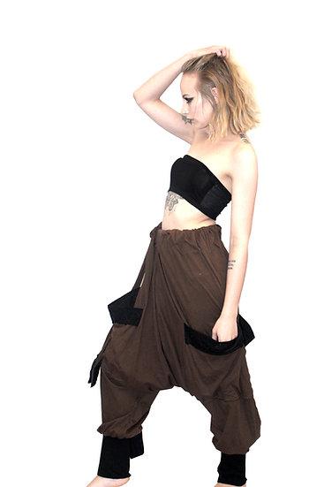 Brown Mega Harem Pants