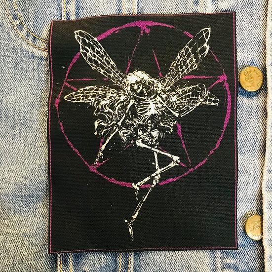 Skeleton Fairy Canvas Patch