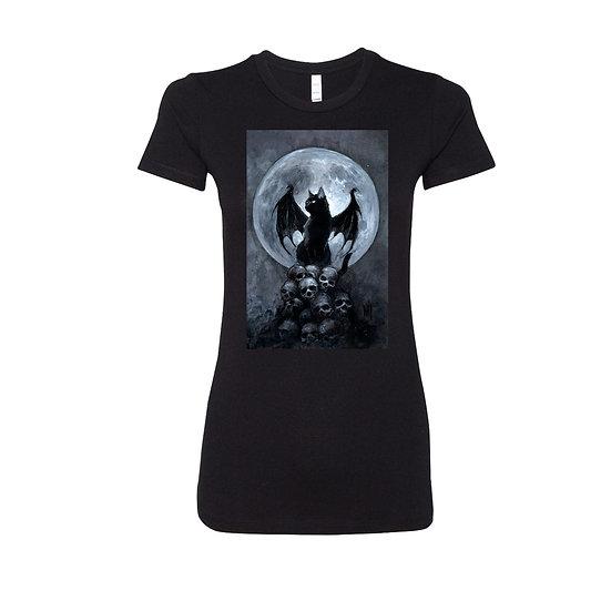 Bat Cat Womens Tee