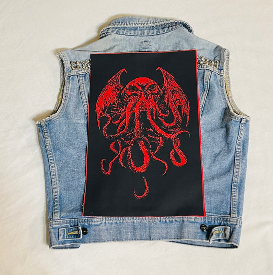 Red Cthulhu Back Patch