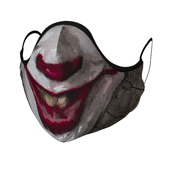 Evil Clown Face Mask