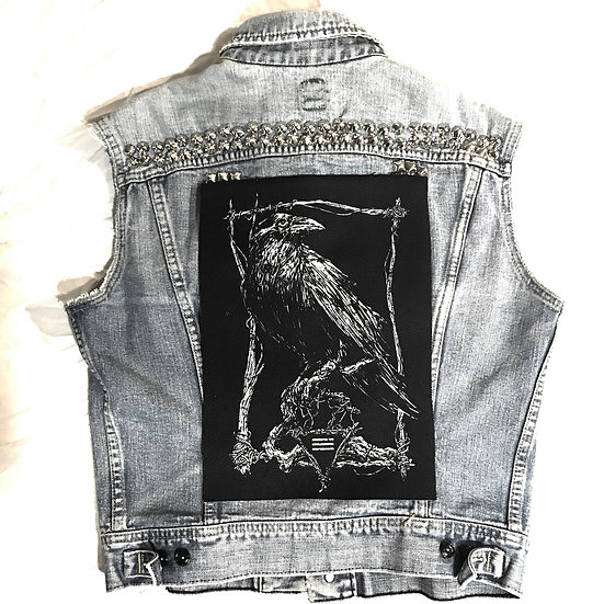 Classic Raven Back Patch