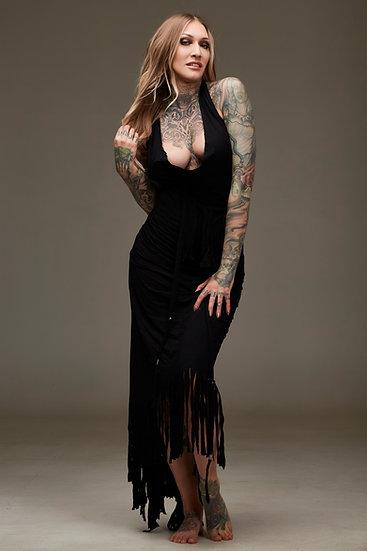 Black Fringe Dress