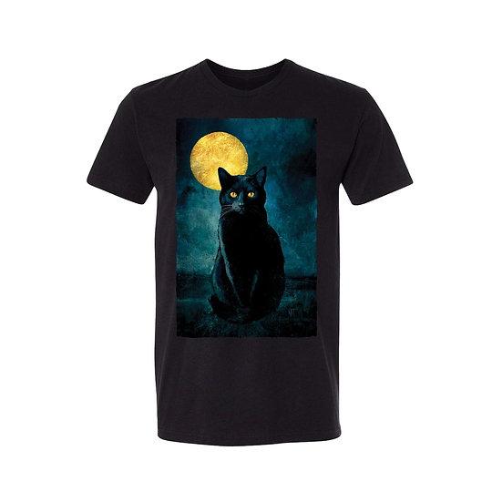 Golden Moon Black Cat T-Shirt