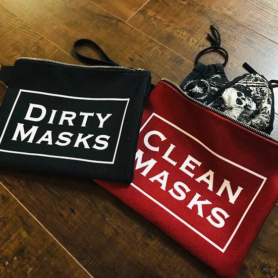clean masks dirty masks carry-all bag set
