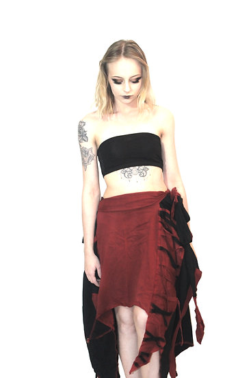 Black and Red Shaman Skirt
