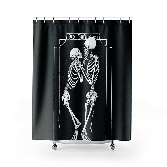 Skeleton Lovers Shower Curtain