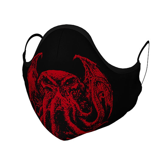 RED Cthulhu Face Mask