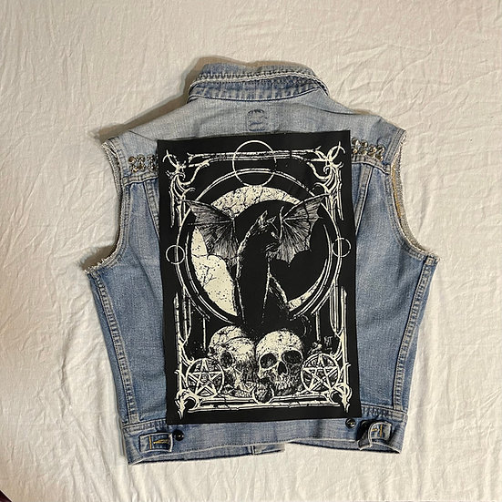 XL Moon Kitty Back Patch