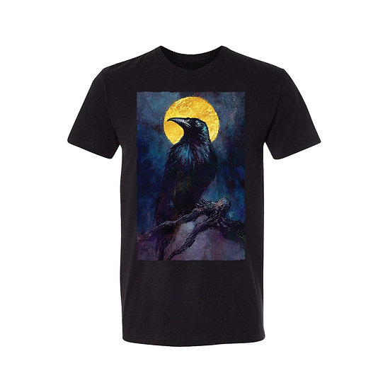 Golden Moon Raven T-Shirt