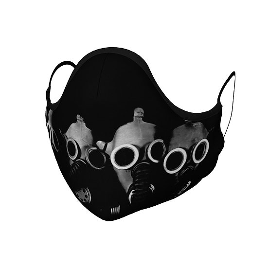 Gas Masks in a Row Face Mask