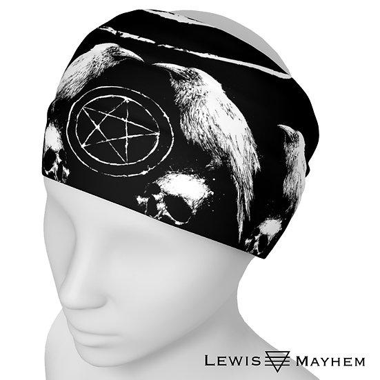 White Occult Ravens Headband