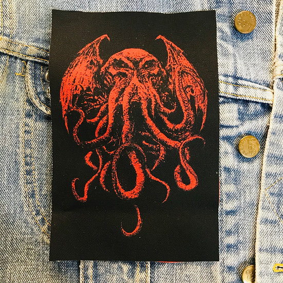 RED Cthulhu Canvas Patch