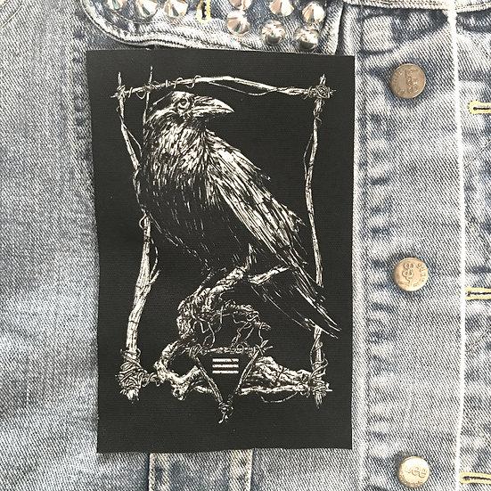 Classic Raven Canvas Patch