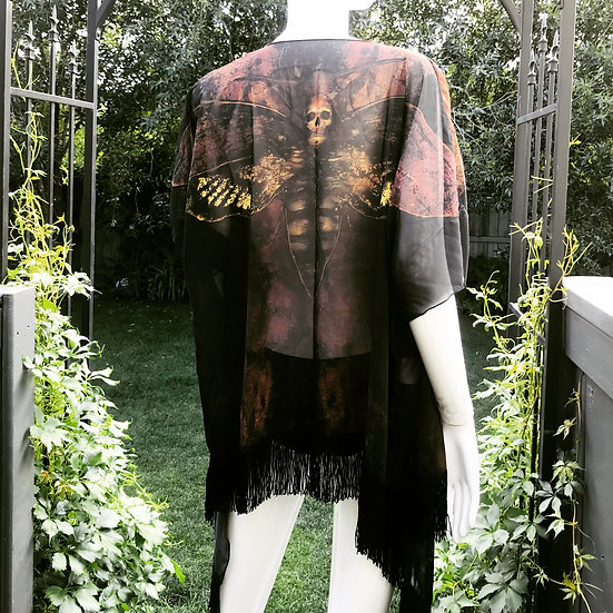 Death Moth Draped Kimono