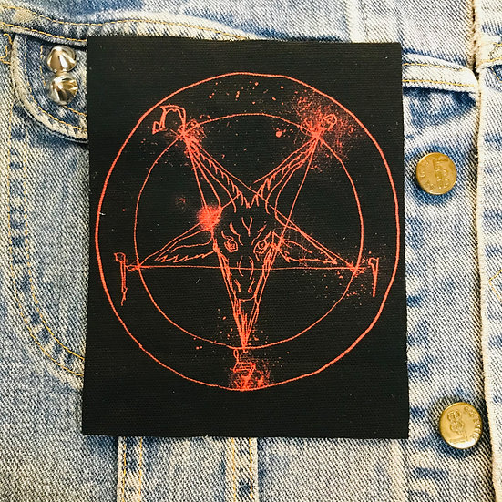 Satanic Red Canvas Patch