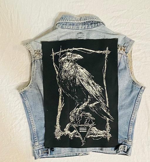 XL Classic Raven Back Patch