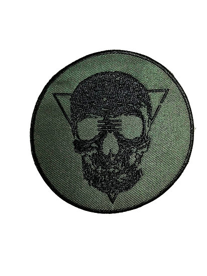 Military Green Tribe Skull Patch