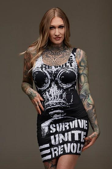 Survive Unite Revolt Bodycon Dress