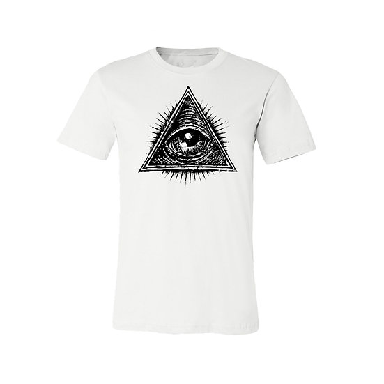 White All Seeing Eye T-Shirt