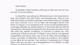 Le Pape François bénit le Figuier