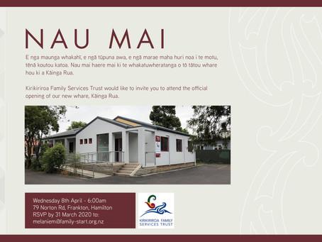Our new whare, Kāinga Rua, is opening!