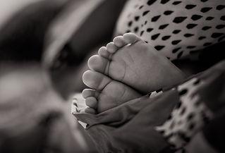 Baby's feet. Precious baby.