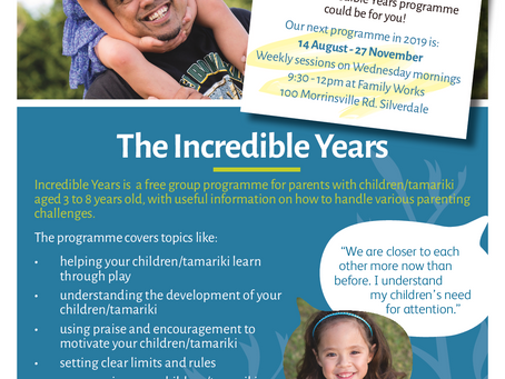 NEW Incredible Years programme at Family Works
