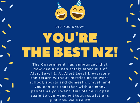 Yay! NZ is at Level One