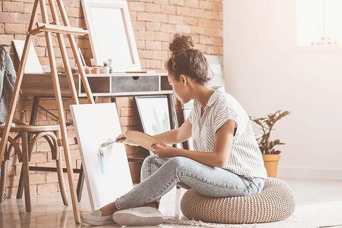 atelier créatif peinture