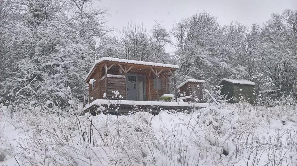 The hut in the snow