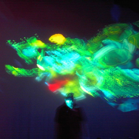 Blue Green Abstract Projection