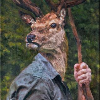 Portrait of a Rational Agent (2) (Oil on canvas) 22x30cm