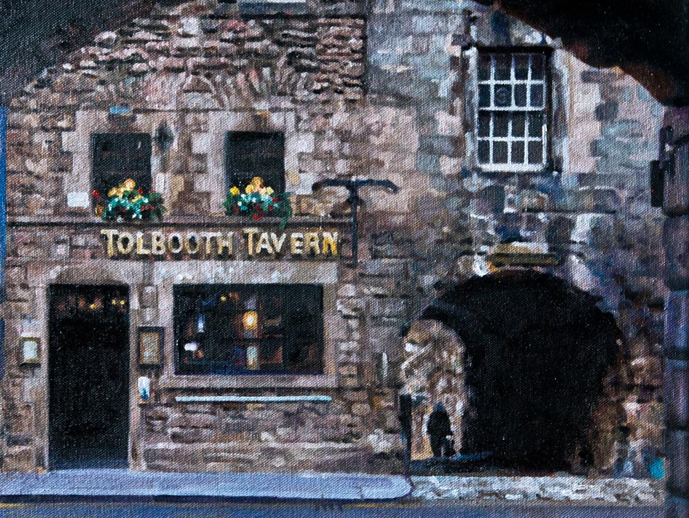 Tolbooth Tavern (oil on canvas) 55x45cm